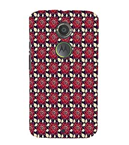 iFasho Animated Pattern black and white many lotus flower Back Case Cover for Moto E2