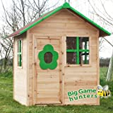Elmsvalley Cabin Wooden Playhouse Pre Painted Children's Wendy Picture