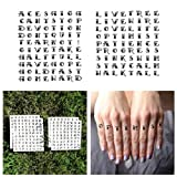 Tattify Traditional Knuckle Temporary Tattoos - Optimist (Set of 19) - Other Styles Available - Superior Quality and Fashionable Temporary Tattoos