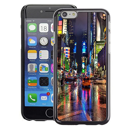 A-type Colorful Printed Hard Protective Back Case Cover Shell Skin for Apple (4.7 inches!!!) iPhone 6 / 6S ( Broadway Street City New York Rain Lights) (Broadway Rain Cover compare prices)
