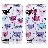 HPY_Hero NEW STYLE Painting Metro Flower Deluxe Book Style Folio PU Leather Wallet with Magnet Design Flip Case Cover, Credit Card Holder for HTC One M8 (Foxes)