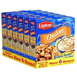 Lipton Onion Recipe Soup & Dip Mix - 6/2 oz. bxs