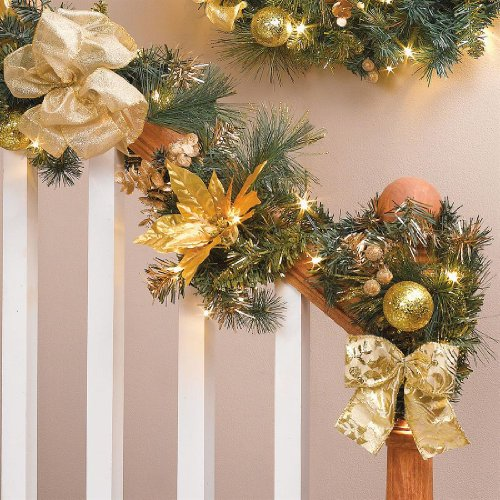 Brylanehome 6' Cordless Pre-Lit Garland With Timer