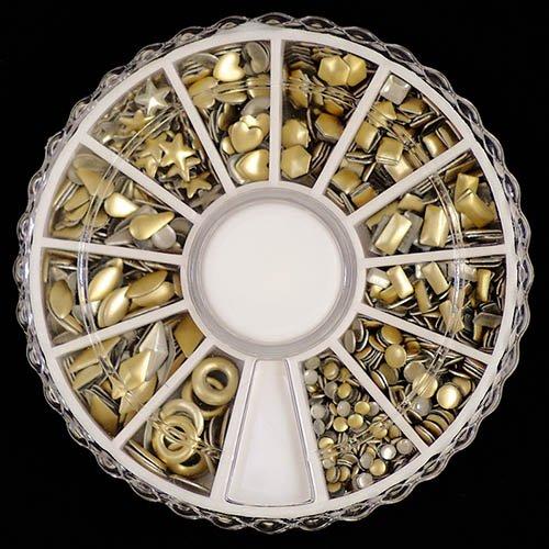 スタッズ 12種類 ver.2 ネイル用 マット ゴールド 入