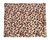 "Thermal Heated Dog Bed - Best For Dogs, Puppies Feral Cats, Kittens And Other Small Animals - Beige Leopard Print (22"" x 18"") - Self Warming Heating Pads With Anti Slip Backing."