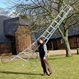 Tripod Garden Ladders with built-in Platform by Henchman - 4.2m - 4.8m (14' Ladder). All 3 Legs Fully Adjustable.