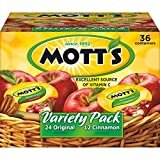 Mott's Original & Cinnamon Variety Pack Applesauce, 4 oz cups (Pack of 36)