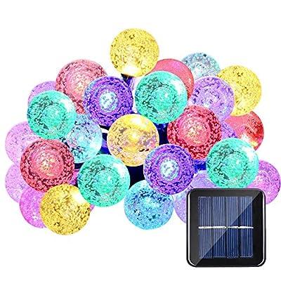 Qedertek 30 LED Crystall Ball Solar Christmas Lights