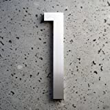 Modern House Number Aluminum Modern Font Number One