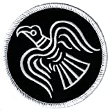 Odin's Raven Black Embroidered Patch Viking Iron-on Norway Flag Banner