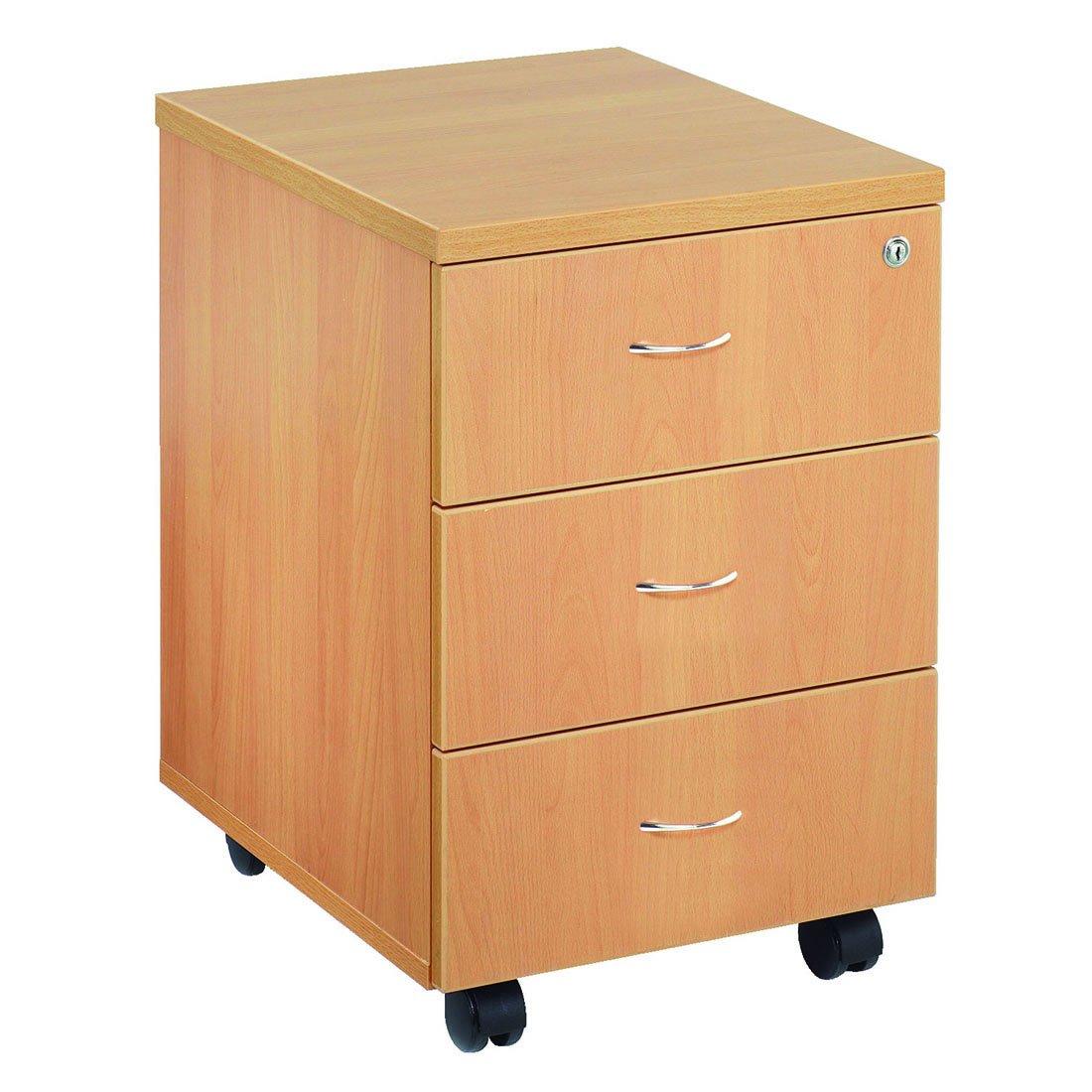Office Filing Cabinet w/ Mobile Wheels   3 BOX Drawers Pedestal   Oak       Office Productsreview