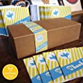 Bright Stem 50 Small Thank You Cards/Notecards Pack, Vintage Style