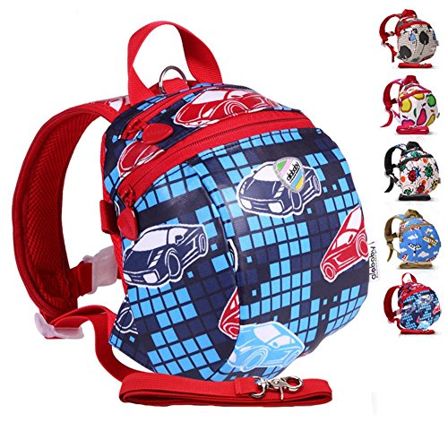 buy Moonwind Waterproof Kids Toddler Harness Backpack Children Baby Safety Bag with Leash ( Auto Racing ) for sale