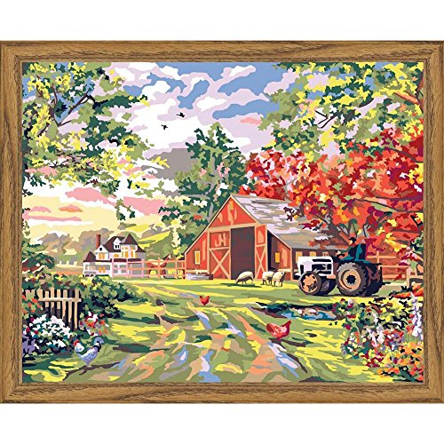 Plaid Creates Paint by Number Kit (16 by 20-Inch), 22061 Old Farm House (Farm Paint By Number compare prices)