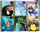 img - for Walt Disney's Princess 6 Book Collection from Golden Books Sleeping Beauty, Belle in Beauty and the Beast Enchanted Christmas, Mulan, Ariel the Little Mermaid, Cinderella, Snow White (Collection #19) book / textbook / text book