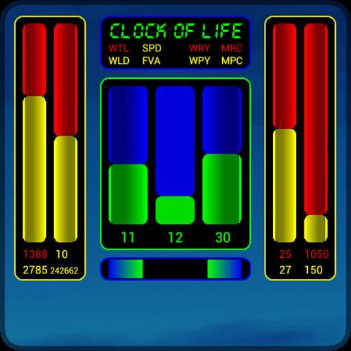 Clock of Life (blue sun)