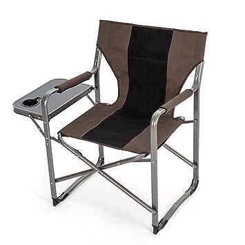 Anna Silla de Escalada Al aire libre retroiluminada Ultra silla de pesca de fumar perezoso silla plegable silla portátil silla de comedor informal lonchera de descanso Brown