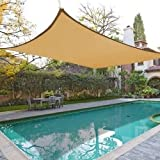 16 X 12 Sun Shade Sail Uv Top Outdoor Canopy Patio Lawn Rectangle Beige, Desert Sand, Tan