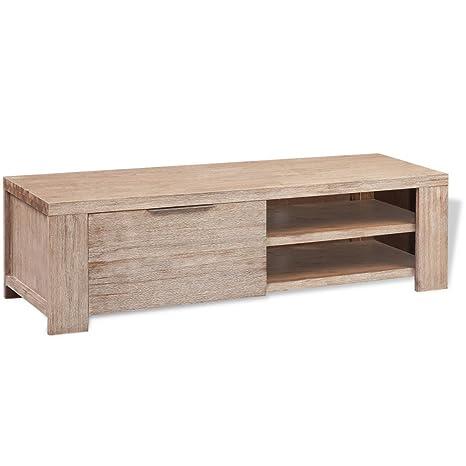 vidaXL Mueble para la TV de madera acacia cepillada 140x45x40 cm
