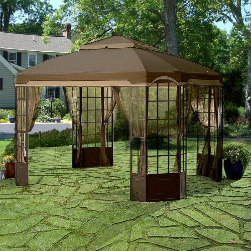 garden winds riplock replacement canopy for the bay window gazebo sold at sears home lawn. Black Bedroom Furniture Sets. Home Design Ideas