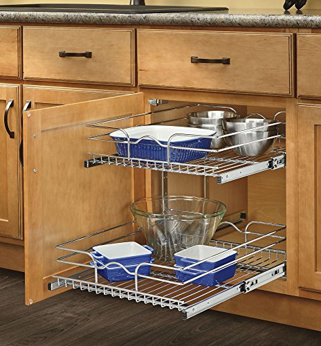 Rev-A-Shelf - 5WB2-2122-CR - 21 in. W x 22 in. D Base Cabinet Pull-Out Chrome 2-Tier Wire Basket (Base Cabinet Pull Out compare prices)