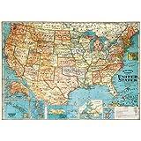 "Cavallini Decorative Paper - USA Map 20""x28"" Sheet"