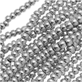 Czech Seed Beads 11/0 Silver Supra Metallic (1 Hank/4000 Beads)