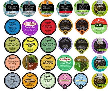 30 Cup Super Tea Sampler 30 Varieties! New Flavors! Harney Tea, Prospect Tea, Higgins & Burke, Red Rose, Salada