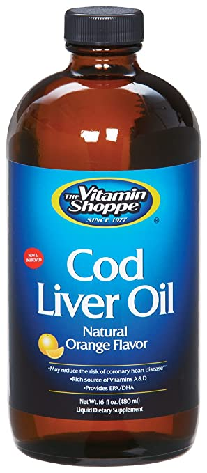 the Vitamin Shoppe - Cod Liver Oil, 16 fl oz liquid