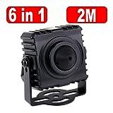 GW Security 6-in-1 AHD / TVI / CVI / CVBS / EX-SDI / HD-SDI 1080P 3.7mm Pinhole Lens Hidden Spy CCTV Security Camera, Square Case with Mount