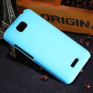 CZap Tough Case Hard Matte Rubberized Back Cover for Huawei Honor Bee - Cyan