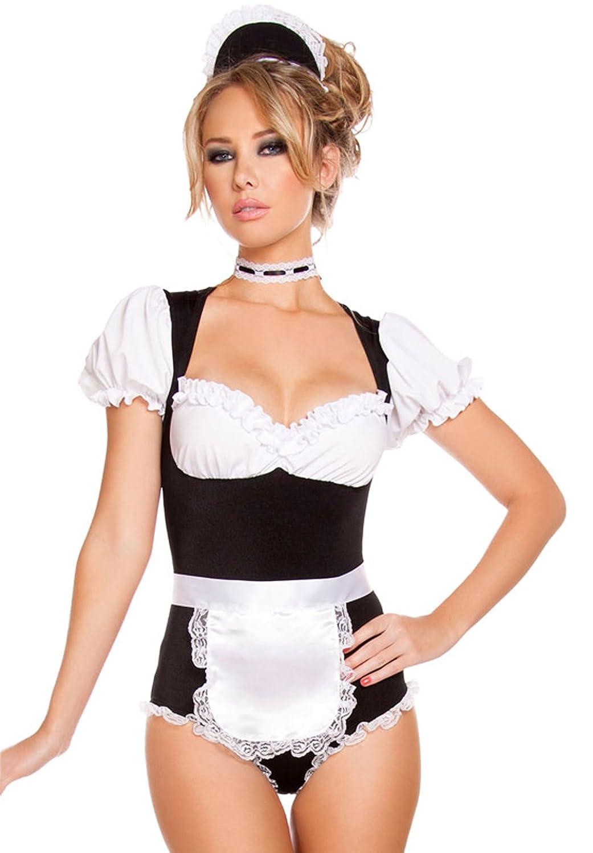 Lukis Damen Halloween Kostüm Dienerin Bodysuit Dessous Reizwäsche jetzt kaufen