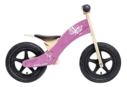"Rebel Kidz Wood Air bois, 12"", papillon ros"