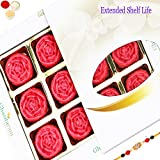 Rakhi Gifts Sweets-Ghasitarams Strawberry Roses 12 Pcs White Box-350gms