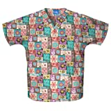 Cherokee 4700C Women's Scrub HQ Cotton V-Neck Print Scrub Top