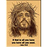 Jesus Christ Engraved Photo On Wood - Christmas Plaque (5x4)
