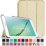 Fintie Samsung Galaxy Tab S2 9.7 Smart Shell Case - Ultra Slim Lightweight Stand Cover with Auto Sleep/Wake Feature for Samsung Galaxy Tab S2 9.7 Inch Tablet, Gold
