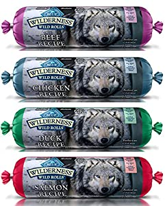 BLUE WILDERNESS WET DOG FOOD ROLLS ★ NATURAL HEALTHY HOLISITC GRAIN FREE ★ BEEF SALMON DUCK CHICKEN VARIETY PACK 4 POUNDS