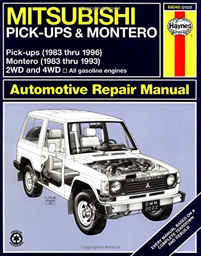 Mitsubishi Pickups And Montero, 1983-1996 (Haynes Manuals) front-317510