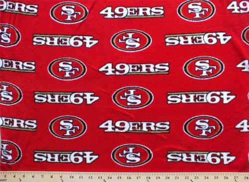 Coral Cuddle Micro Plush San Francisco 49ers NFL Football Fabric Print c6410df at Amazon.com