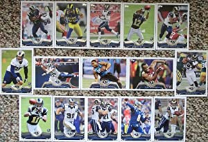 2013 Topps Football St. Louis Rams Team Set In a Protective Case - 12 cards including Tavon Austin RC, Quinn, Long, Stacy RC, Bradford, Ogletree RC, Givens, Finnegan, Kendricks, Laurinaitis, Jenkins, Bailey RC, McDonald RC, Richardson, and a Team Leader Card.
