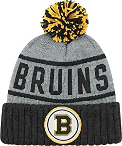 Boston Bruins High 5 Vintage Cuffed Pom Hat