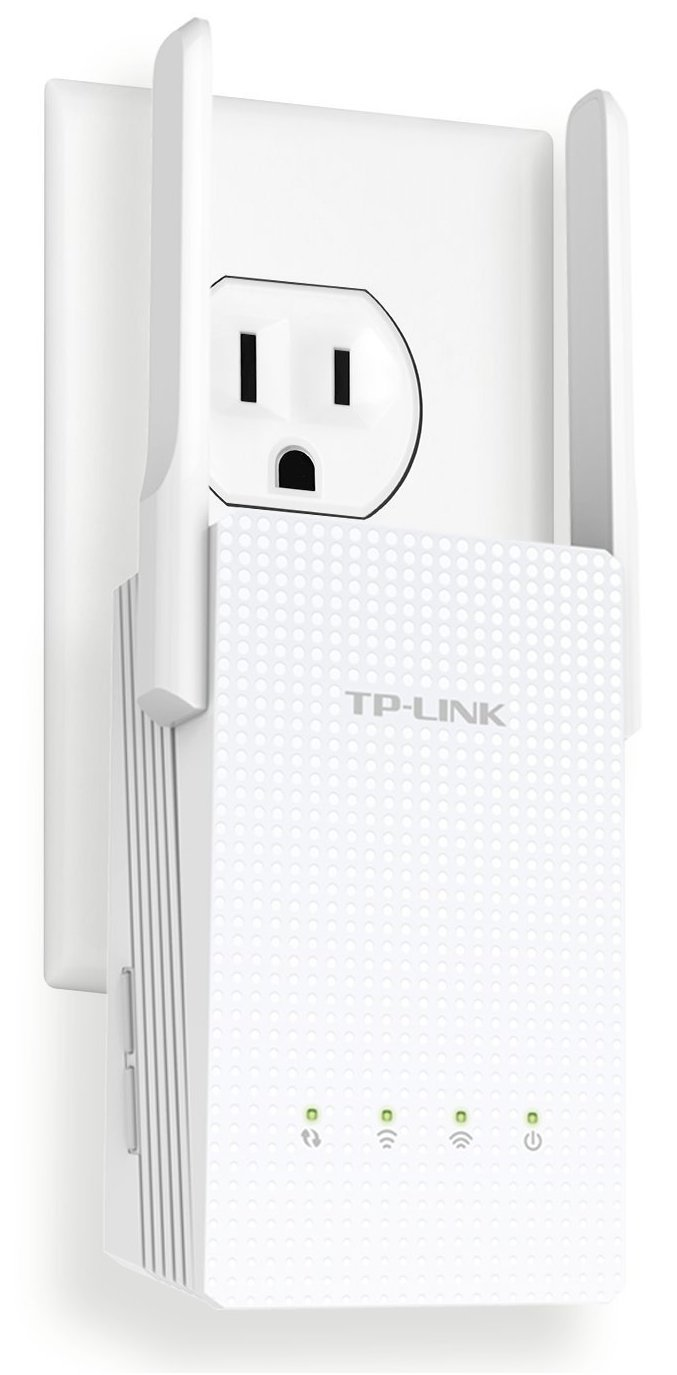 TP-LINK RE210 AC750 Universal Wireless Dual Band Range Extender, Gigabit Ethernet Port, Wi-Fi Repeater, Wall Plug, Plug and Play, High Speed Mode, Intelligent Signal Indicator
