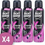 NEW RIGHT GUARD WOMAN XTREME INVISIBLE DEODORANT 150ML LADIES PROTECTION