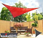 Voile d'Ombrage Rouge Triangle 3,6m -...