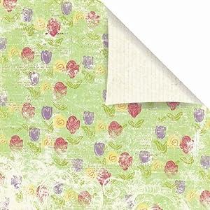 Prima 843083 12 by 12-Inch Sweet Fairy Cardstock Paper, Rosebud, 10-Pack