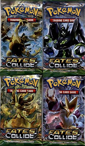 4-Four-Packs-Pokemon-XY-Fates-Collide-Booster-Packs-10-Cards-per-Pack