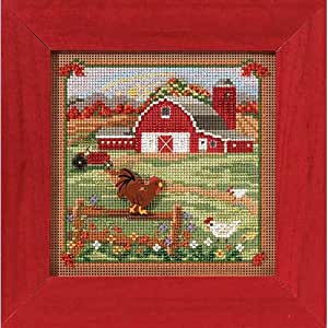 Country morning counted cross stitch kit for Country living magazine cross stitch
