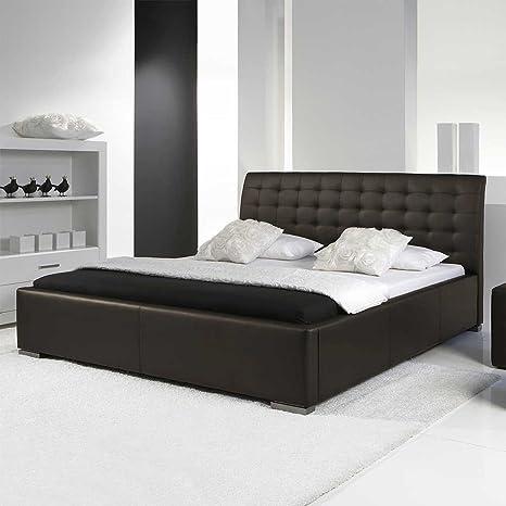 Polsterbett Futonbett Betten Leder Comfort braun Breite 178 cm Liegefläche 160x200 Pharao24