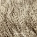 Faux Fake Fur Siberian Husky White Black 58 Inch Wide Fabric By the Yard (F.E.®)